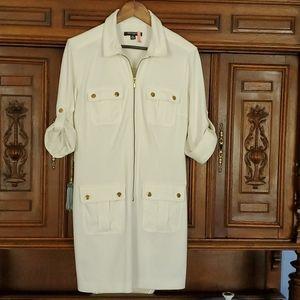 Sharangano creme color dress S